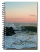 Waves At The Point West Cape May Nj Spiral Notebook