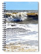 Waves At Tybee Spiral Notebook