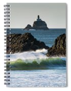 Waves Breaking At Ecola State Park Spiral Notebook