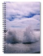 Waves Breaking At The Coast, Iceland Spiral Notebook