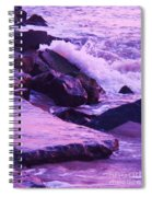 Waves  Breaking  On Jetties  Spiral Notebook