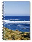 Waves Breaking On The Beach, Western Spiral Notebook