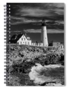 Waves Crashing Spiral Notebook