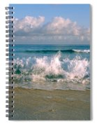 Waves Crashing On The Beach, Varadero Spiral Notebook