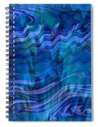 Waves Of Blue - Abstract Art Spiral Notebook