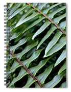 Waves Of Green Spiral Notebook