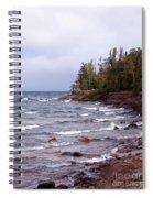 Waves Of Lake Superior Spiral Notebook