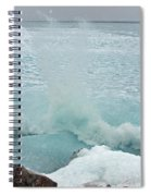 Waves Of Pancake Ice Crashing Ashore Spiral Notebook