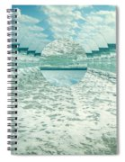Waves Of Reflection Spiral Notebook