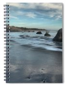 Waves On The Rocks Spiral Notebook
