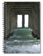 Waves Under The Pier Landscape Spiral Notebook