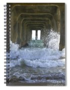 Waves Under The Pier Portrait Spiral Notebook