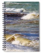 Waves - Wind - Fury Of The Sea Spiral Notebook