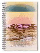 Waves With Sunset Spiral Notebook