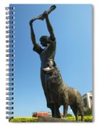 Waving Girl Savannah Georgia Spiral Notebook