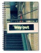 Way Out Spiral Notebook