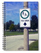 Way To The Usa Spiral Notebook