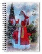 Wdw Santa Photo Art Spiral Notebook