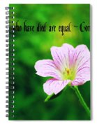 We Are Equal Spiral Notebook