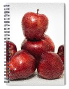We Are Family - 6 Red Apples - Fresh Fruit - An Apple A Day - Orchard Spiral Notebook