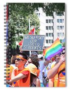 We Support Our Lgbtq Students Spiral Notebook