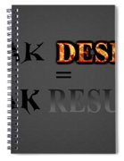 Weak Desires Bring Weak Results Spiral Notebook