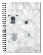 Weather Forcast - Snow - Featured In Cards For All Occasions Group Spiral Notebook