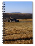 Weathered Barn In Field Spiral Notebook
