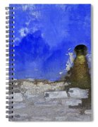 Weathered Blue Wall Of Old World Europe Spiral Notebook