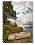 Weathered Boat Spiral Notebook