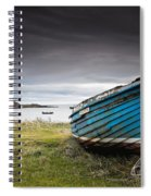 Weathered Boat On The Shore Spiral Notebook