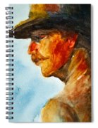 Weathered Cowboy Spiral Notebook