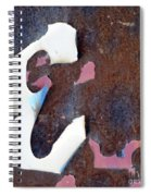 Weathered E Spiral Notebook