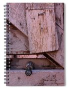 Weathered Gate With Lock And Chain Spiral Notebook
