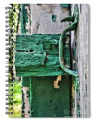 Weathered Green Paint Spiral Notebook