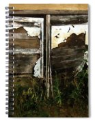 Weathered In Weeds Spiral Notebook