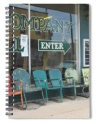 Weathered Old Lawn Chairs Spiral Notebook