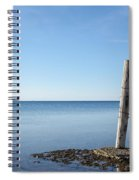 Weathered Old Wooden Pole Spiral Notebook