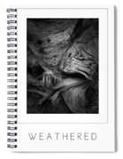 Weathered Poster Spiral Notebook