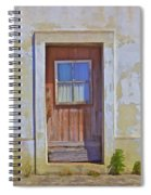 Weathered Rustic Red Wood Door Of Portugal Spiral Notebook
