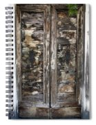 Weathered Wood Door Venice Italy Spiral Notebook
