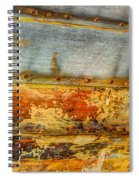 Weathered Wooden Boat - Abstract Spiral Notebook