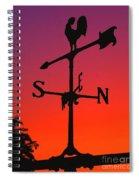 Weathervane At Sunset Spiral Notebook