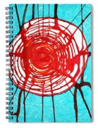 Web Of Life Original Painting Spiral Notebook