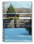 Webster Park Sign Spiral Notebook