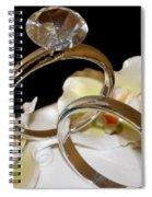 Wedding Cake Rings Black Spiral Notebook