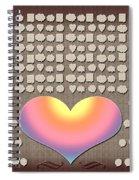 Wedding Guest Signature Book Heart Bubble Speech Shapes Spiral Notebook