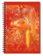 Wedding Joy Greeting Card - Turks Cap Lilies Spiral Notebook
