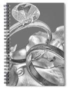Wedding Ring Cake Gray Spiral Notebook