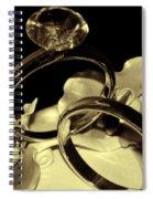 Wedding Rings Cake Top Blk Antiqued Spiral Notebook